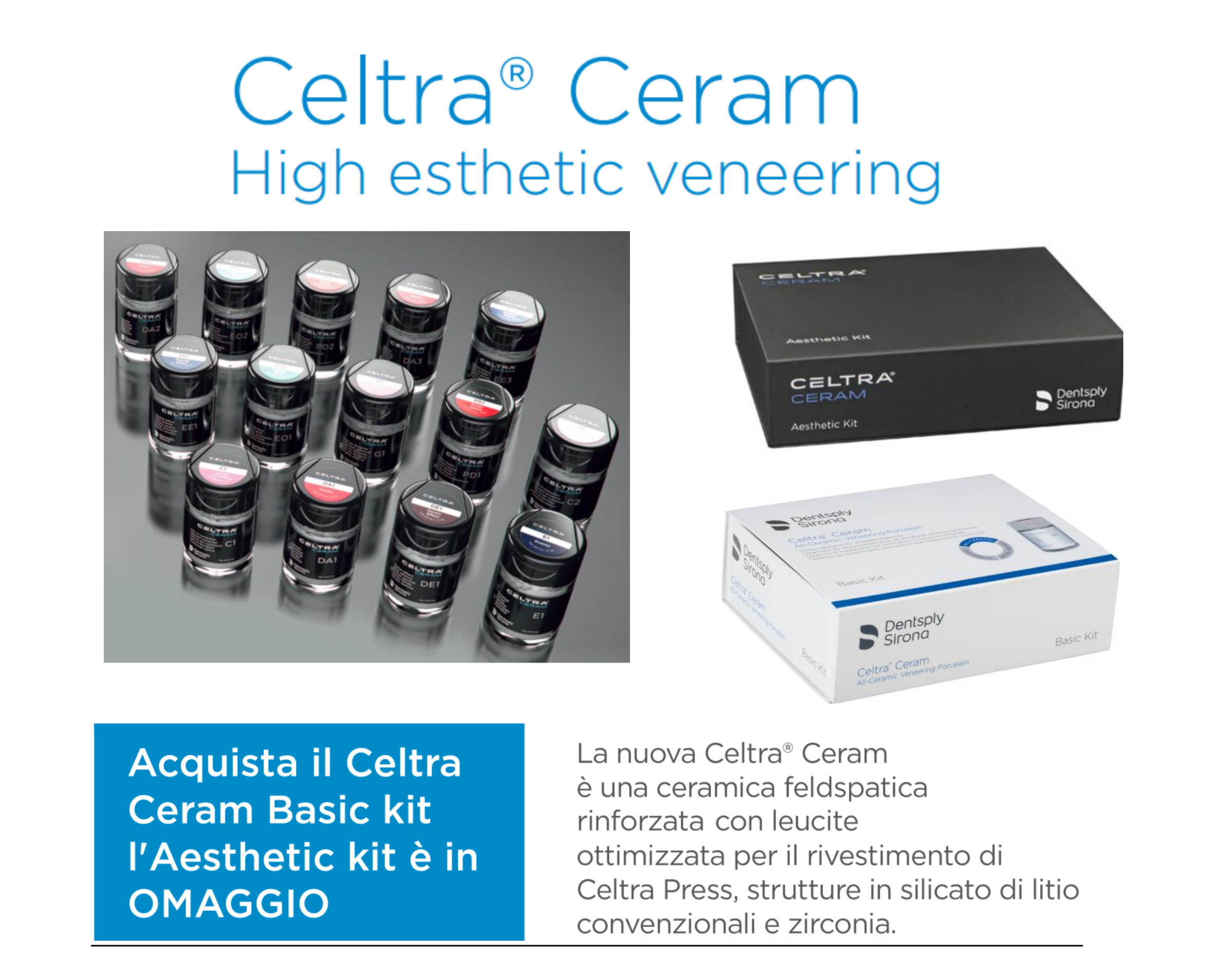 celtra ceram basic kit + aesthetic kit