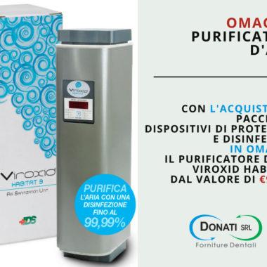 OMAGGIO PURIFICATORE D'ARIA VIROXID HABITAT 3